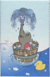 BATH TİME MAVİ ÇOCUK HALISI - Thumbnail