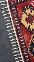 Colorado 11386 Bordo Bukle Dekoratif Halı - Thumbnail
