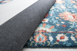 Colorado 11834 Koyu Mavi Bukle Dekoratif Halı - Thumbnail