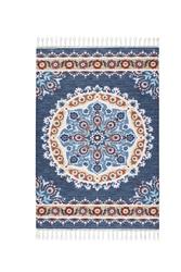 Colorado 11961 Koyu Mavi Bukle Dekoratif Halı - Thumbnail