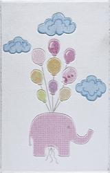 CUTE ELEPHANT PEMBE OYMALI ÇOCUK HALISI - Thumbnail