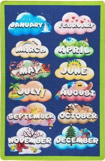 Confetti Months Yeşil Bukle Çocuk Halısı