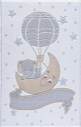 Confetti New Moon Beyaz Oymalı Çocuk Halısı - Thumbnail