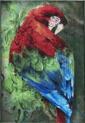 Confetti Scarlet Macaw Yeşil Çocuk Halısı - Thumbnail
