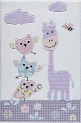 Confetti Stability Lila Oymalı Çocuk Halısı - Thumbnail