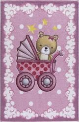 Confetti Teddy Buggy K.Pembe Oymalı Çocuk Halısı - Thumbnail