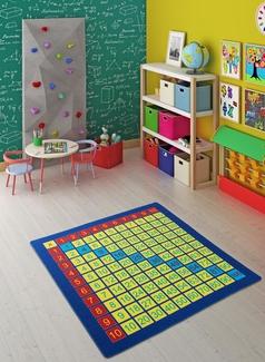 Confetti Times Table Sarı Bukle Çocuk Halısı