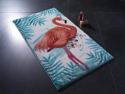 Flamingo Turkuaz Banyo Halısı - Thumbnail
