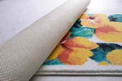 Flower Dust Sarı Banyo Halısı - Thumbnail