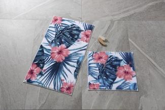 Hibiscus Mercan Banyo Halısı
