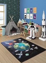 Outer Space Lacivert Bukle Çocuk Halısı - Thumbnail